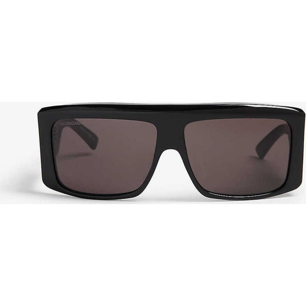 【高価値】 バレンシアガ BALENCIAGA レディース メガネ・サングラス スクエアフレーム【BB0002S square-frame sunglasses】Black, 東松浦郡 8cb4bf59