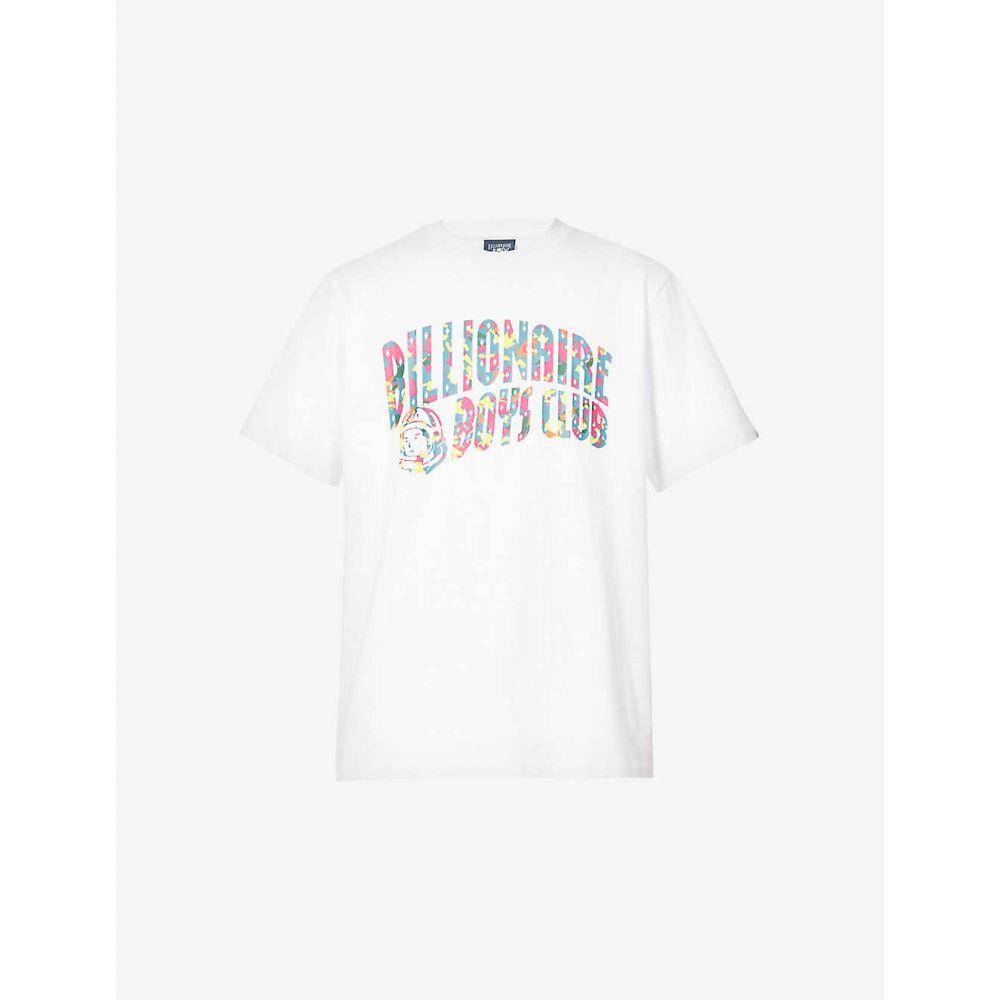 ビリオネアボーイズクラブ BILLIONAIRE BOYS CLUB メンズ Tシャツ トップス【Confetti logo-print cotton-jersey T-shirt】WHITE