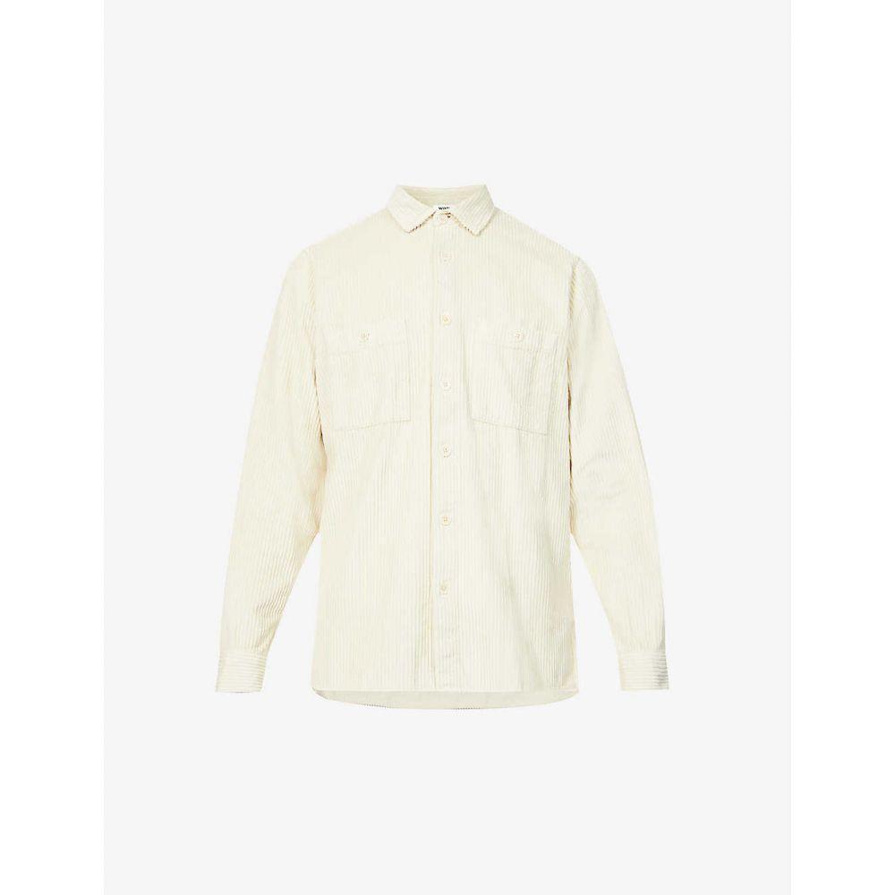 ワックスロンドン WAX LONDON メンズ シャツ トップス【Whiting cotton corduroy shirt】OYSTER GREY