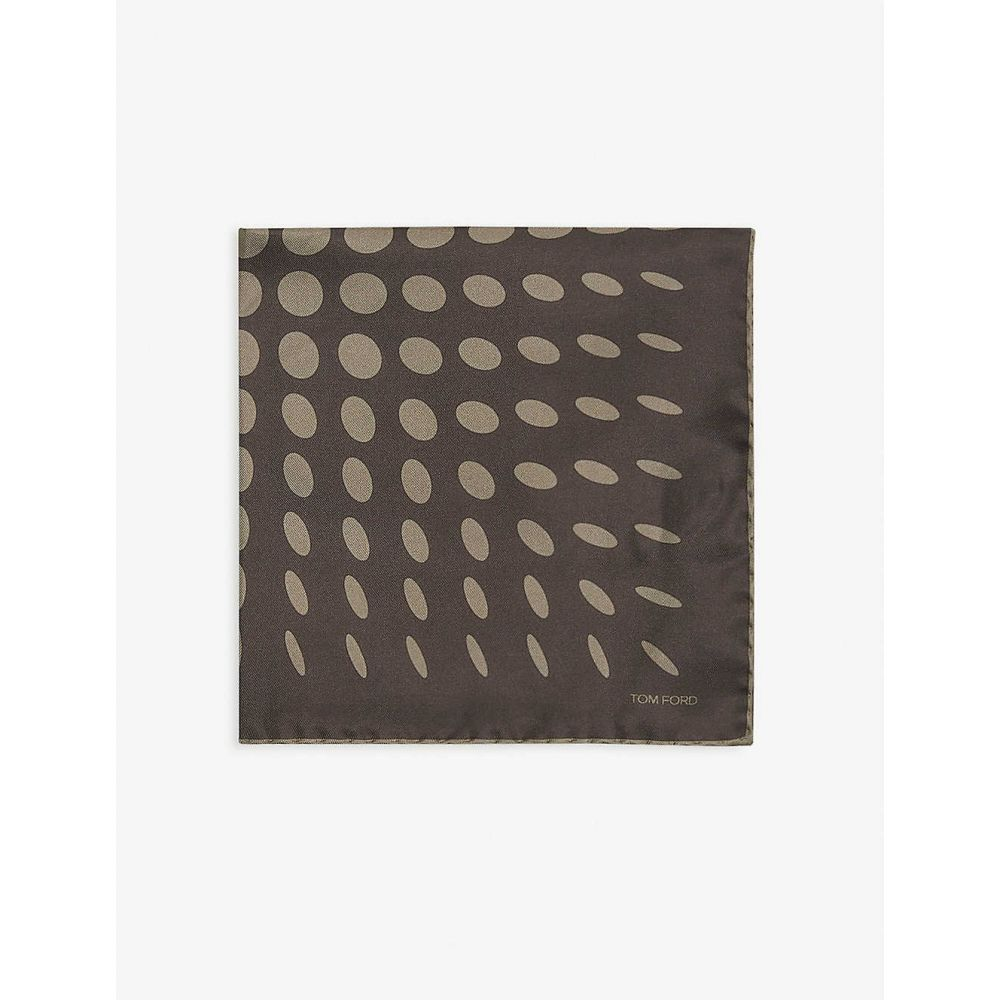 【タイムセール!】 トム フォード TOM FORD メンズ ハンカチ・チーフ 【Silk pocket square 40cm x 40cm】GREEN, マーベラスワン cbca1327