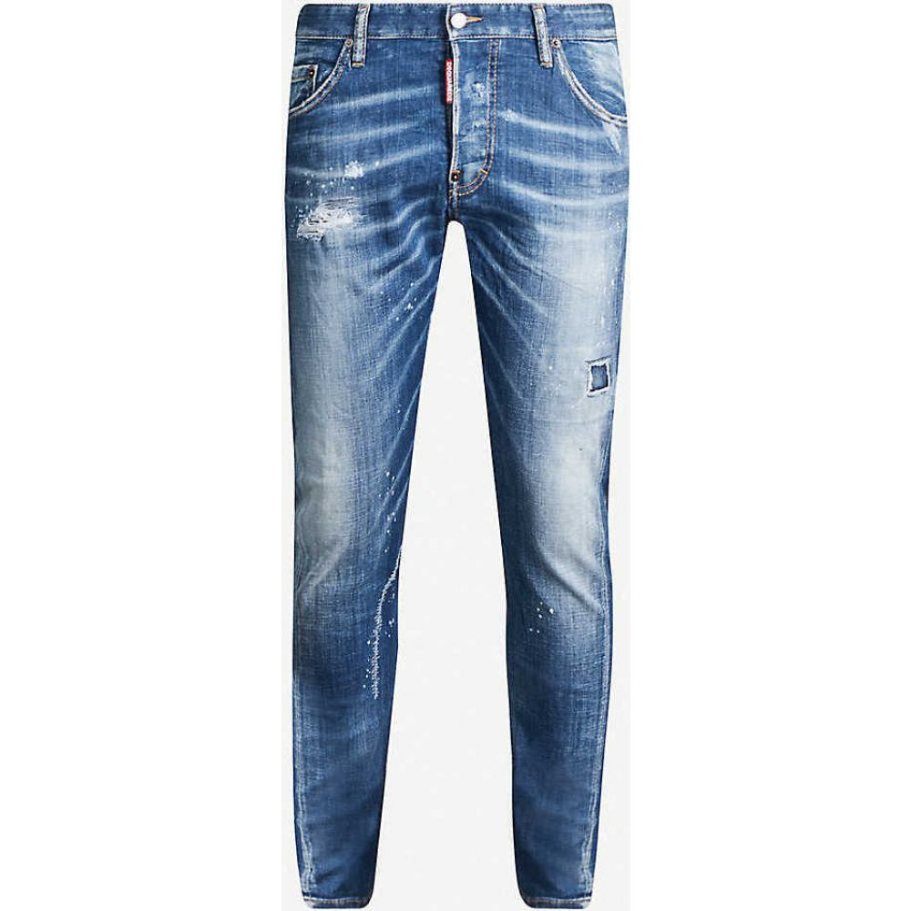 jeans】BLUE ディースクエアード slim-fit DSQUARED2 stretch-denim Twist ボトムス・パンツ【Sexy メンズ ジーンズ・デニム