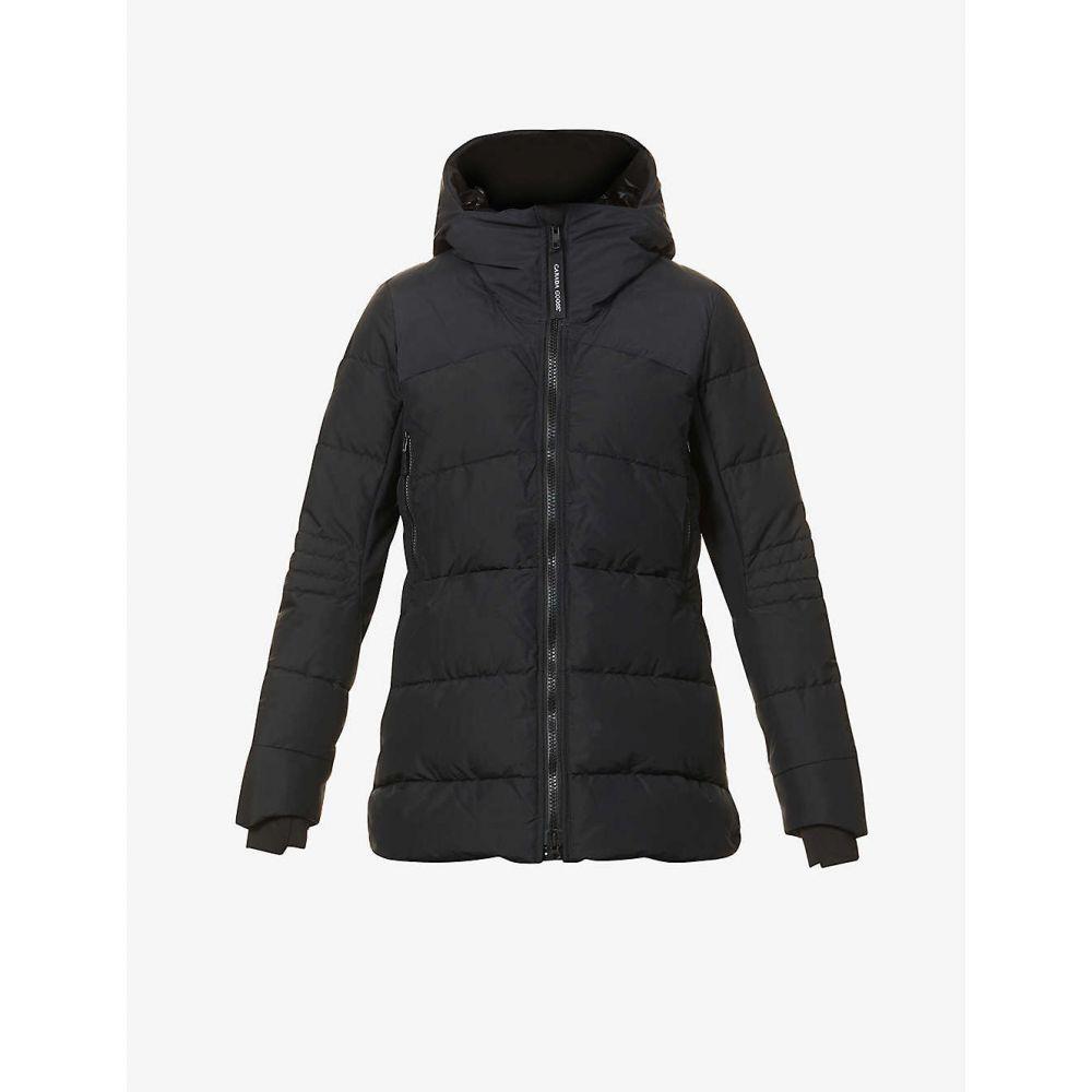 <title>カナダグース レディース アウター いよいよ人気ブランド ダウン 中綿ジャケット サイズ交換無料 CANADA GOOSE HyBridge padded shell-down coat BLACK - NOIR</title>