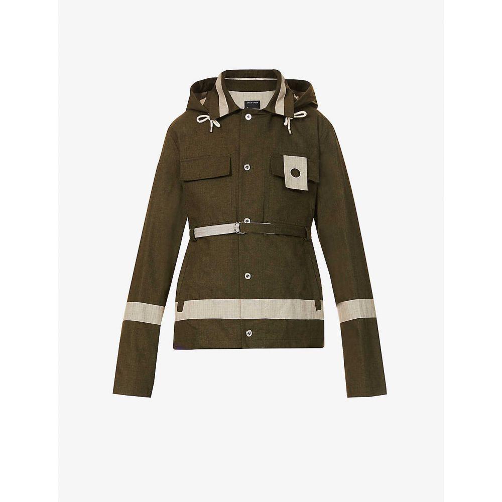 ジャケット cotton クレイググリーン アウター【Panelled メンズ GREEN CRAIG jacket】OLIVE utility