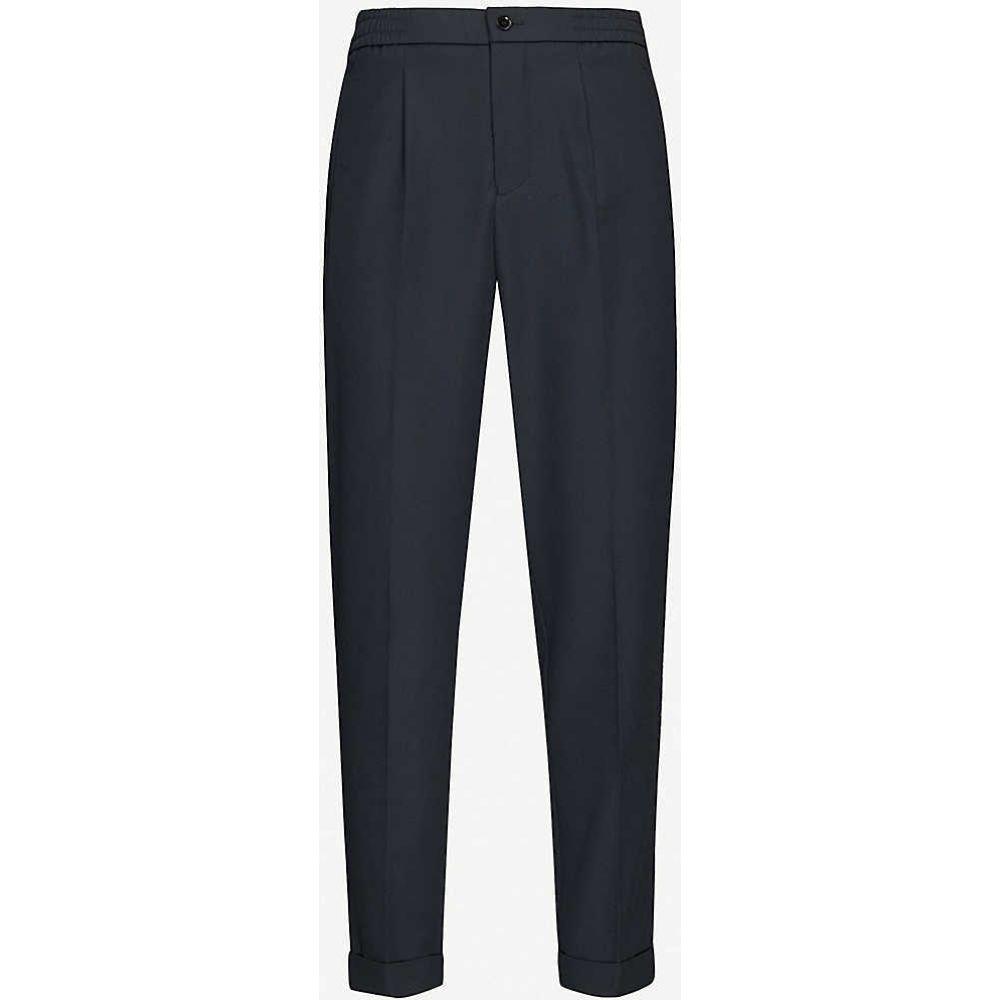 stretch-woven スキニー・スリム drawstring trousers】NAVY メンズ ボトムス・パンツ【Japan リース スキニー・スリム REISS slim-fit