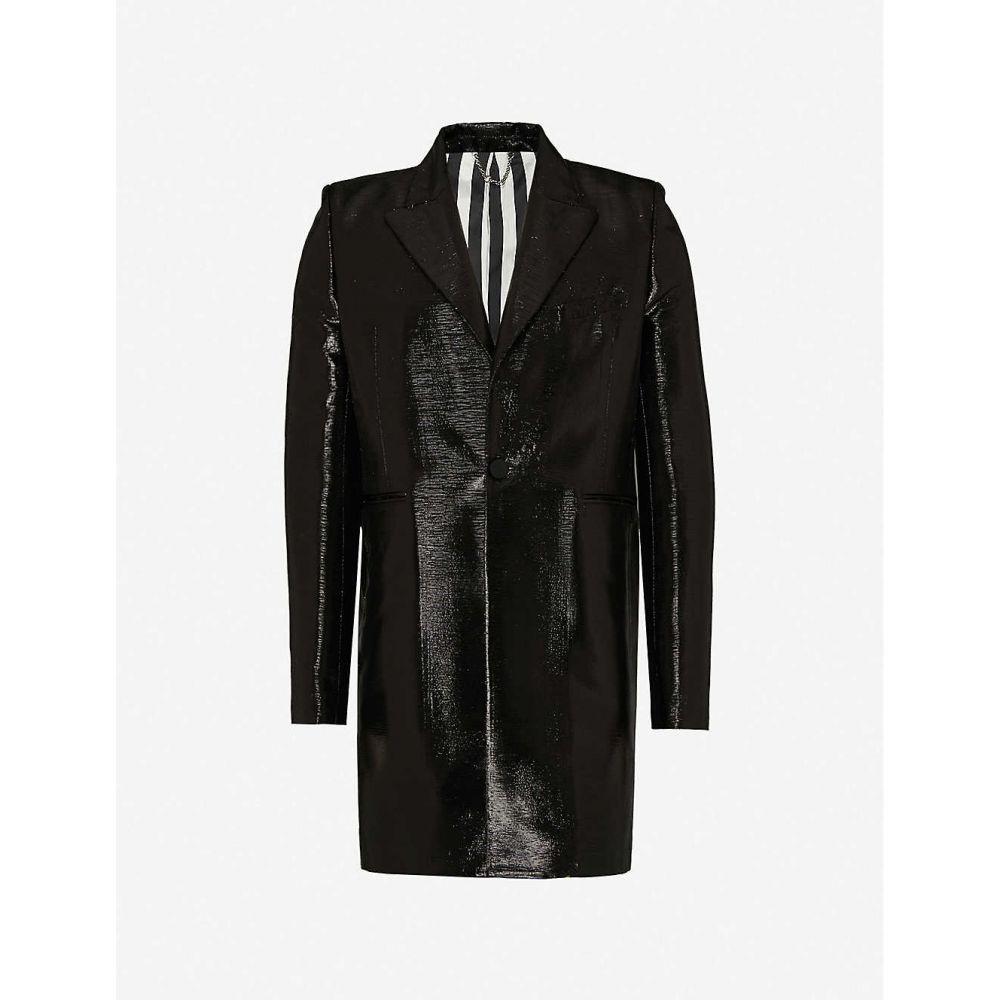 coat】BLACK アウター【Tailored メンズ コート パコラバンヌ PACO woven RABANNE