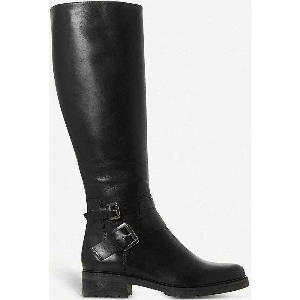 ブーツ レディース シューズ・靴【Knee-high デューン leather boots】BLACK-LEATHER DUNE