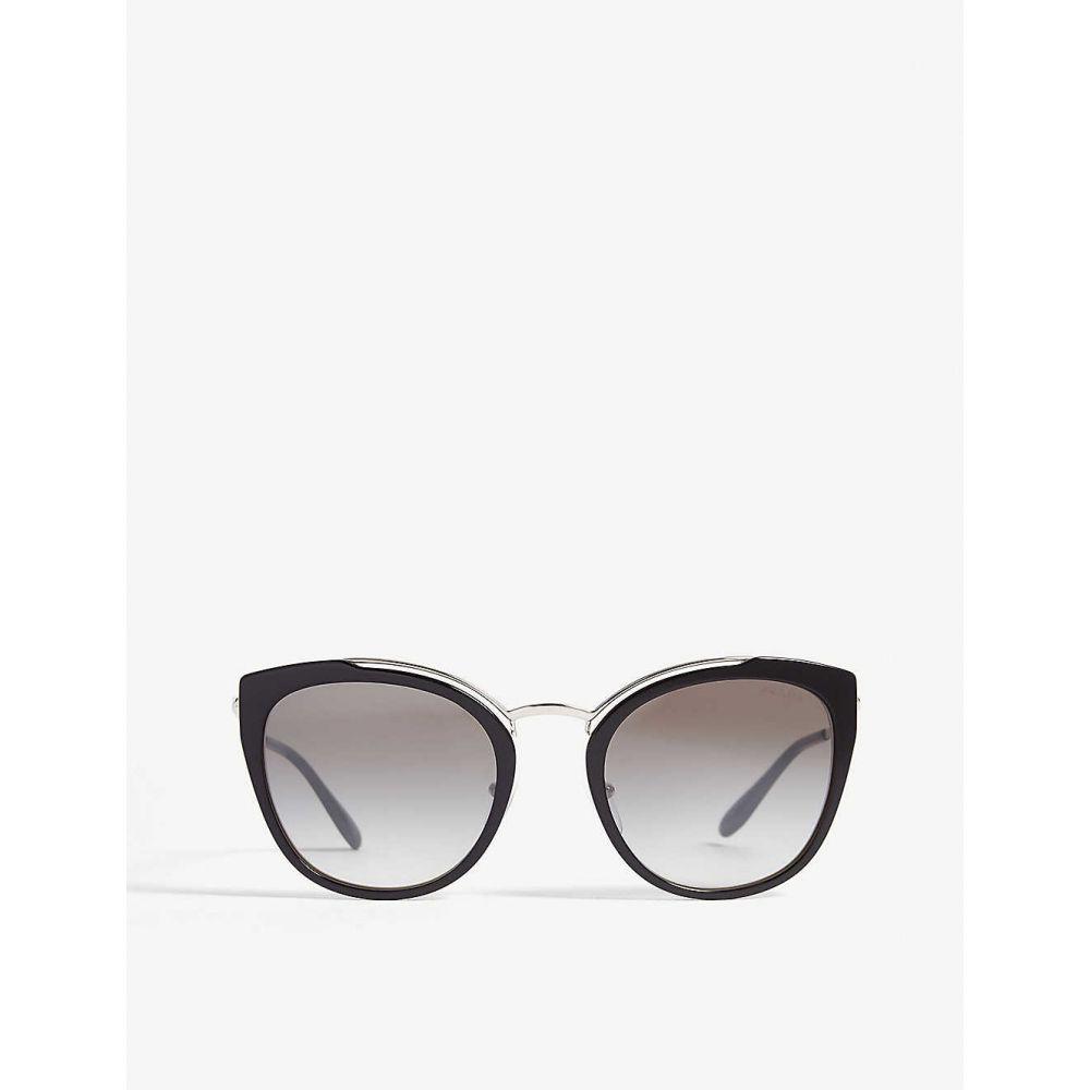 【新発売】 プラダ PRADA プラダ レディース メガネ・サングラス キャットアイ【PR20U sunglasses】Black cat-eye-frame cat-eye-frame sunglasses】Black, 東京屋カバン店:38b96408 --- inglin-transporte.ch