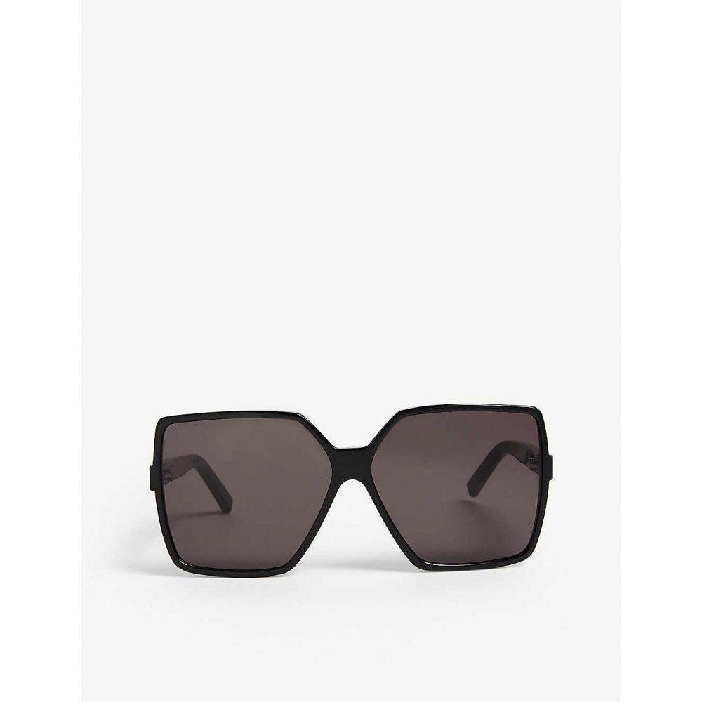 【Betty イヴ LAURENT sunglasses】Black サンローラン レディース SAINT メガネ・サングラス