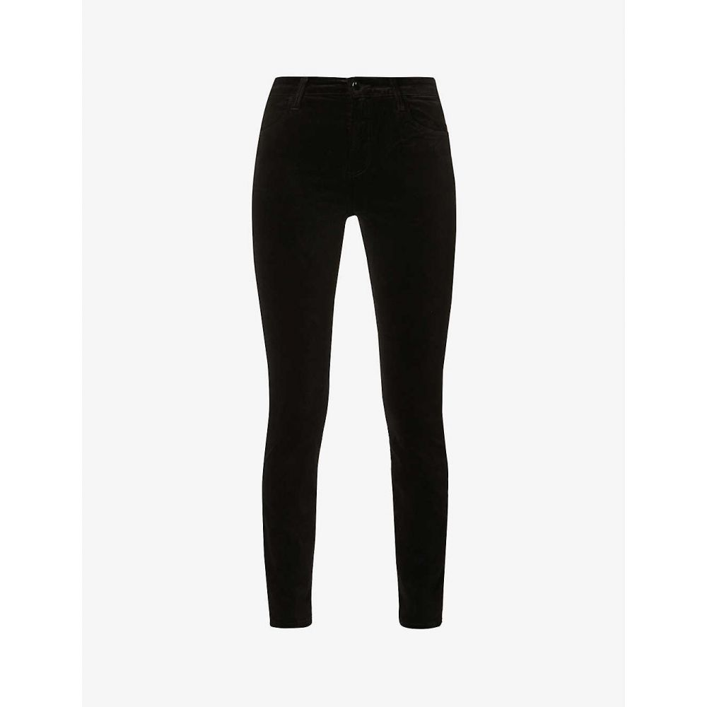ジェイ ブランド J BRAND レディース ジーンズ・デニム スキニー ボトムス・パンツ【Maria skinny high-rise stretch-velvet jeans】BLACK VELVET