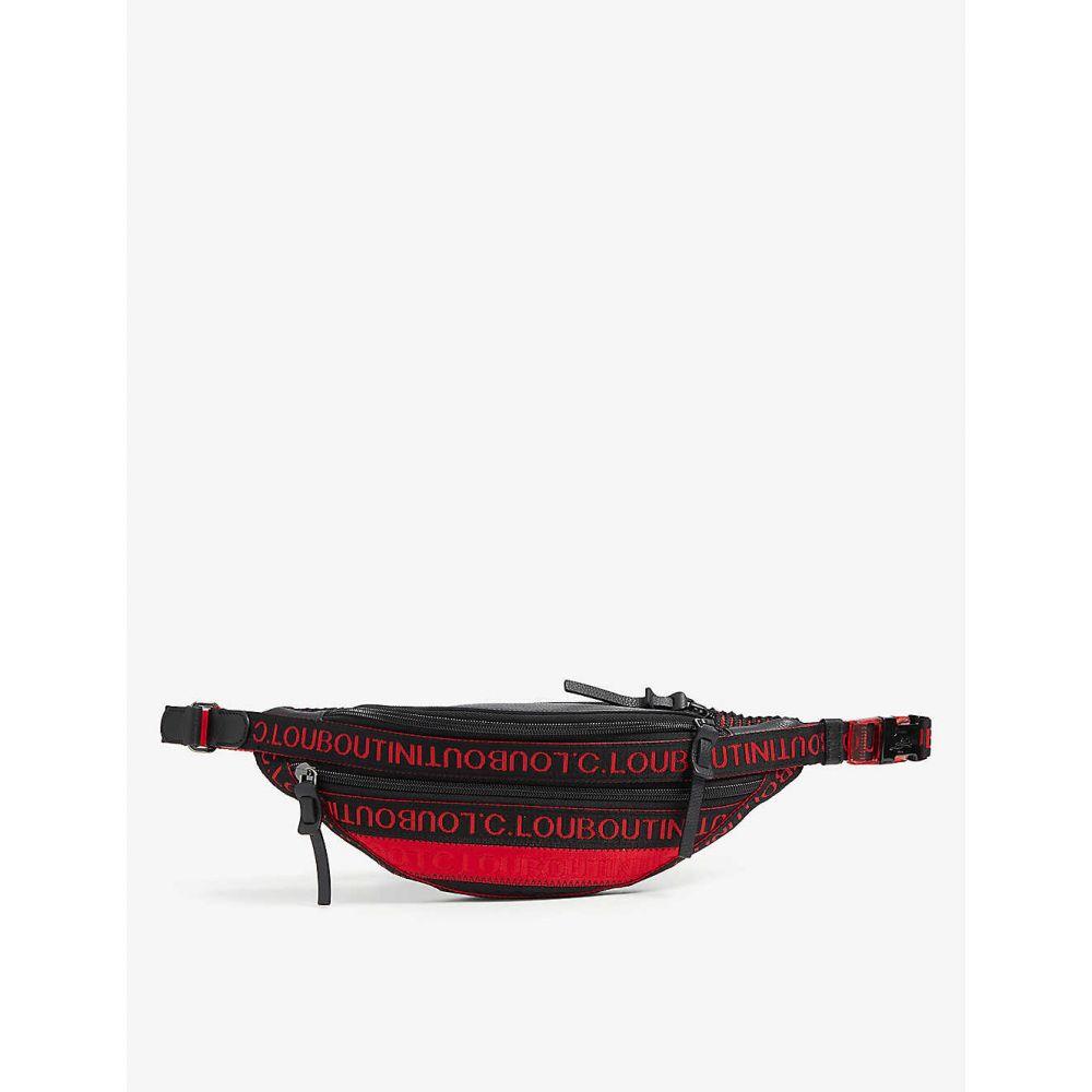 【お買得】 クリスチャン ルブタン メンズ CHRISTIAN LOUBOUTIN メンズ ボディバッグ クリスチャン・ウエストポーチ バッグ canvas【Parisnyc canvas belt bag】BLACK RED/BLACK, コウノムラ:f40d82d9 --- adaclinik.com
