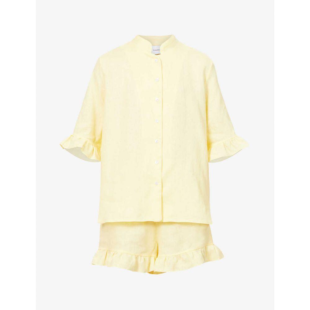 スリーパー SLEEPER レディース パジャマ・上下セット インナー・下着【Ruffle-trim linen pyjama set】LEMON