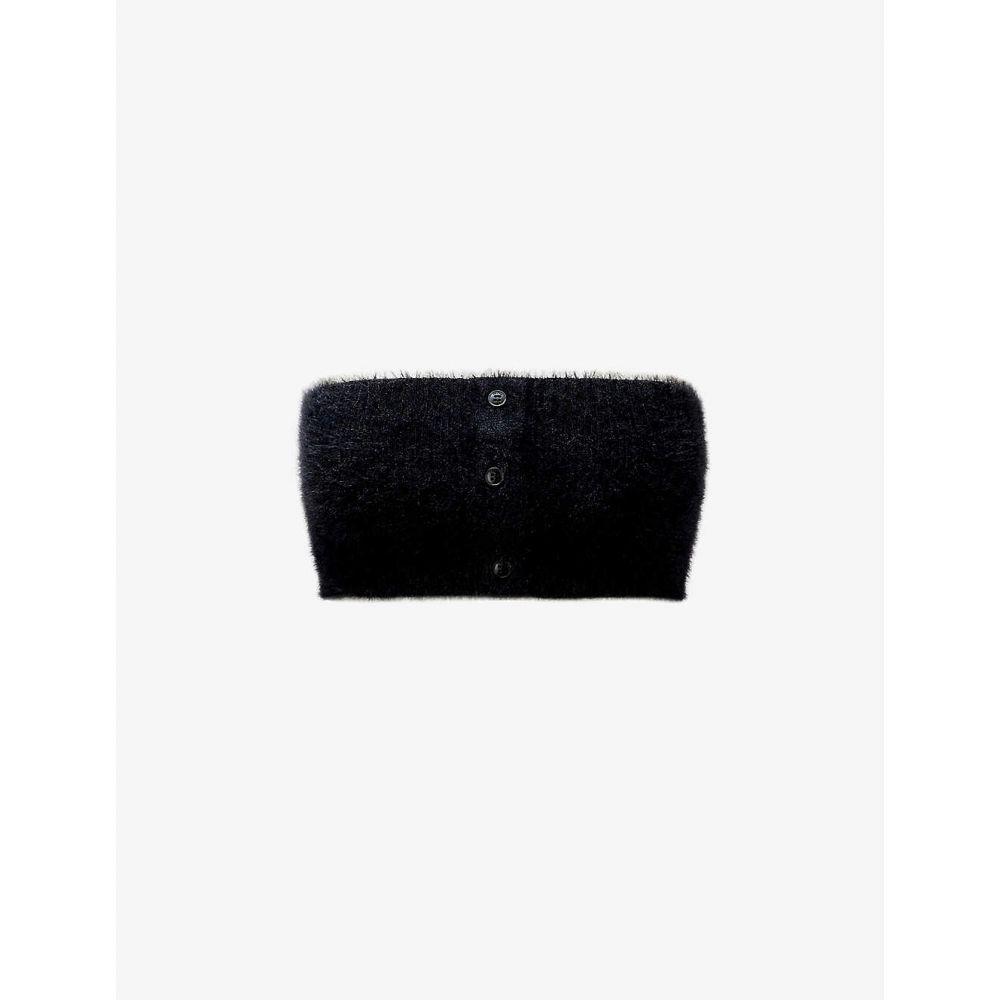 ジャックムス レディース トップス ベアトップ チューブトップ クロップド BLACK サイズ交換無料 定番の人気シリーズPOINT(ポイント)入荷 バンドゥ JACQUEMUS Bandeau Neve 商品 top strapless stretch-knit Le