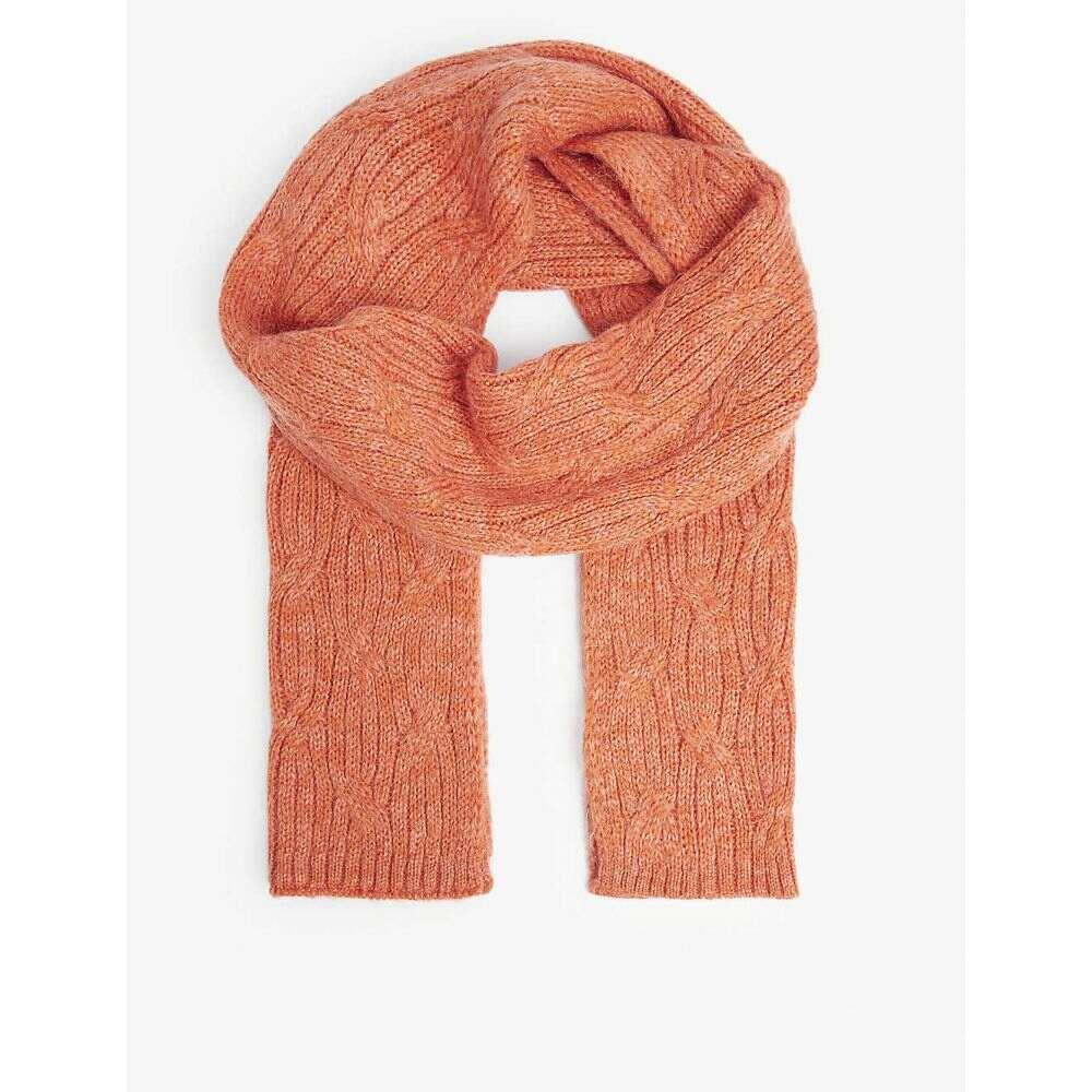 ベネトン レディース ファッション小物 マフラー スカーフ 評価 ストール brunt 返品不可 scarf orange wool-blend BENETTON サイズ交換無料 Knitted