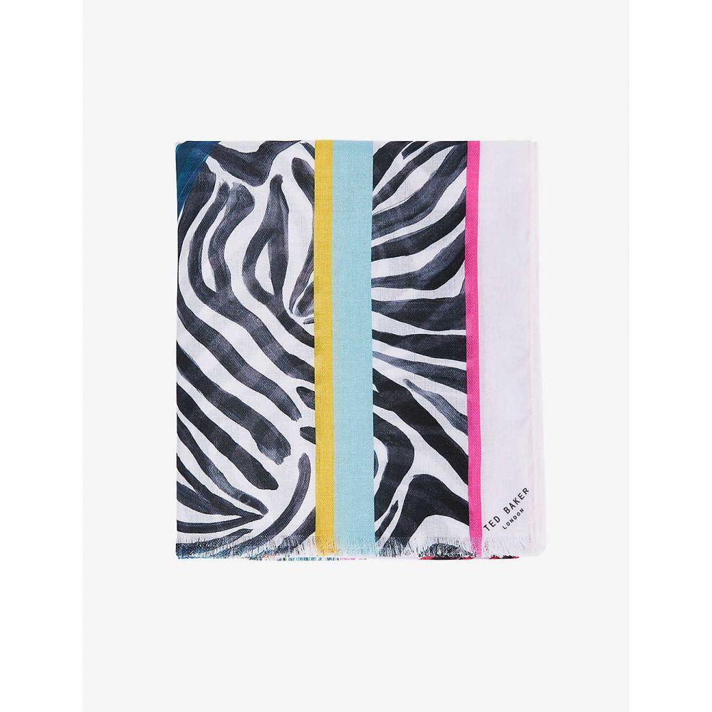 テッドベーカー レディース ファッション小物 マフラー スカーフ ストール LT 品質保証 PINK Scarf 25%OFF サイズ交換無料 Woven TED BAKER Emalita Euphoria-Print