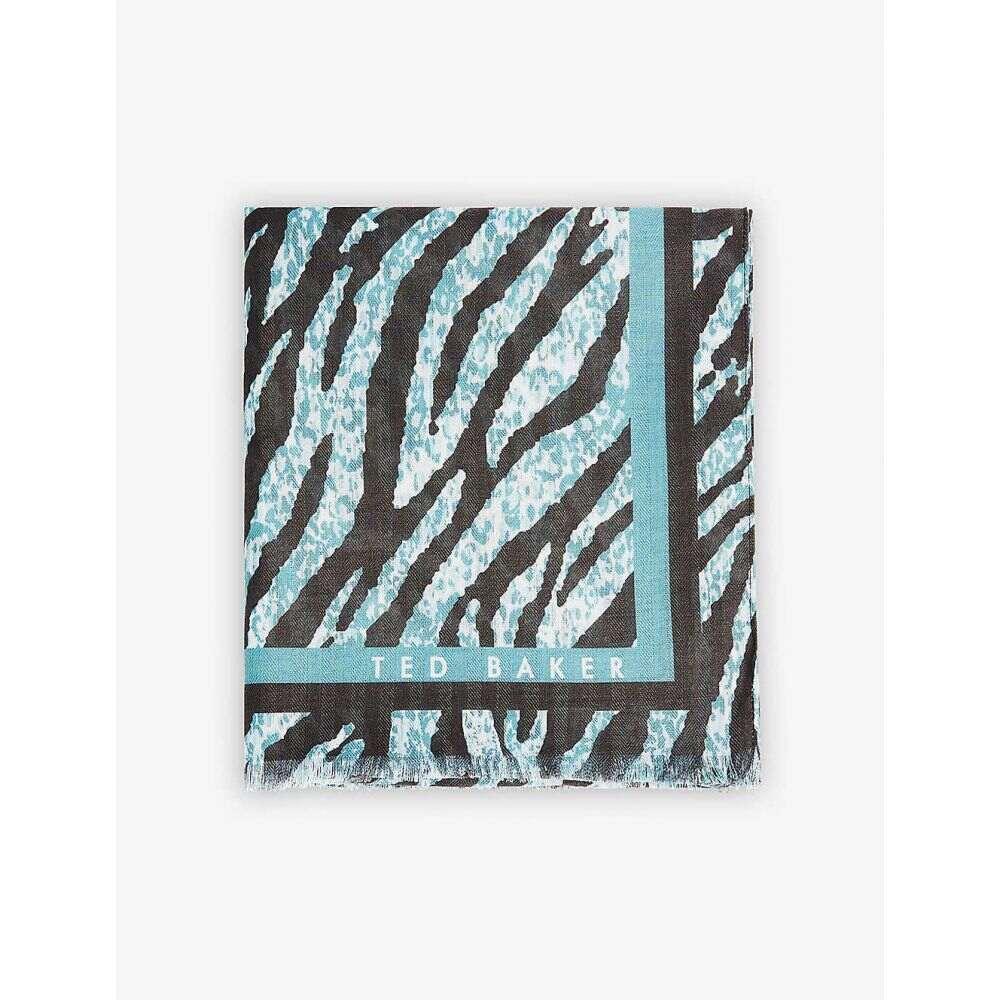 テッドベーカー 5%OFF レディース ファッション小物 マフラー スカーフ ストール OLIVE Barbraa Zebra-Print TED Scarf BAKER サイズ交換無料 Woven 在庫限り