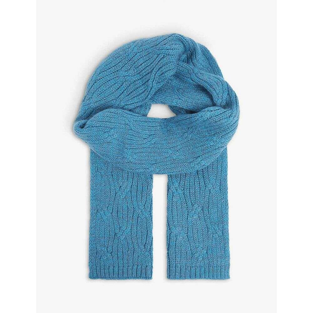 ベネトン レディース ファッション小物 メーカー直送 マフラー スカーフ 絶品 ストール Blue BENETTON Knitted Wool-Blend Scarf サイズ交換無料