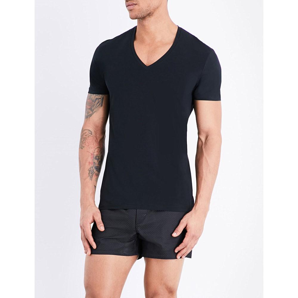 衝撃特価 ラ ペルラ perla la perla メンズ インナー ペルラ ボクサーパンツ・トランクス メンズ【seamless v-neck t-shirt】Black, BIGネットモール:3fa83ab6 --- business.personalco5.dominiotemporario.com