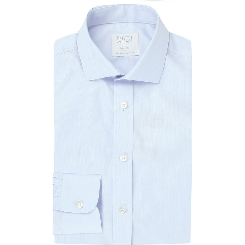 スミス&ギブソン smyth & gibson メンズ トップス フォーマルシャツ【albany tailored-fit cotton-oxford shirt】Blue