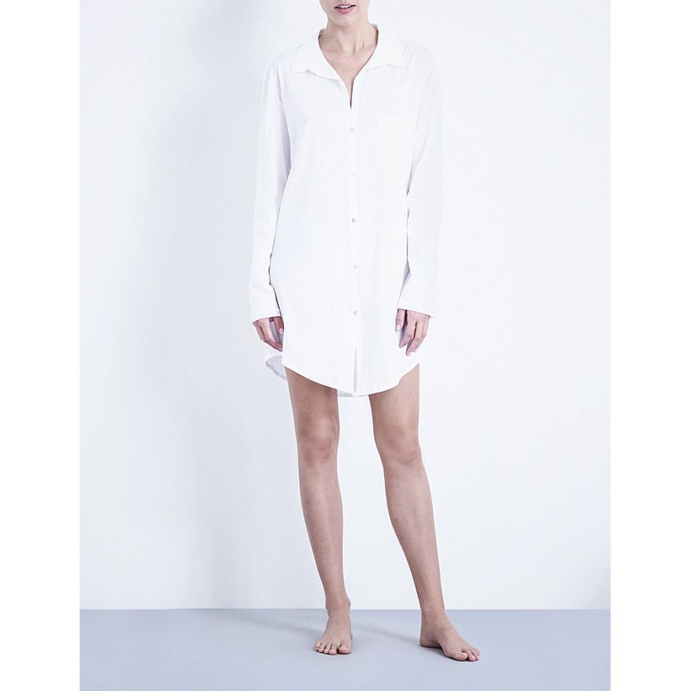 ハンロ hanro レディース インナー パジャマ【deluxe cotton nightshirt】White