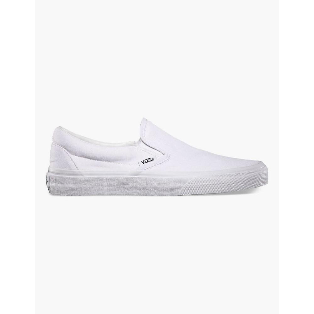 ヴァンズ メンズ シューズ・靴 スリッポン・フラット【Classic Slip-On Shoes】WHITE