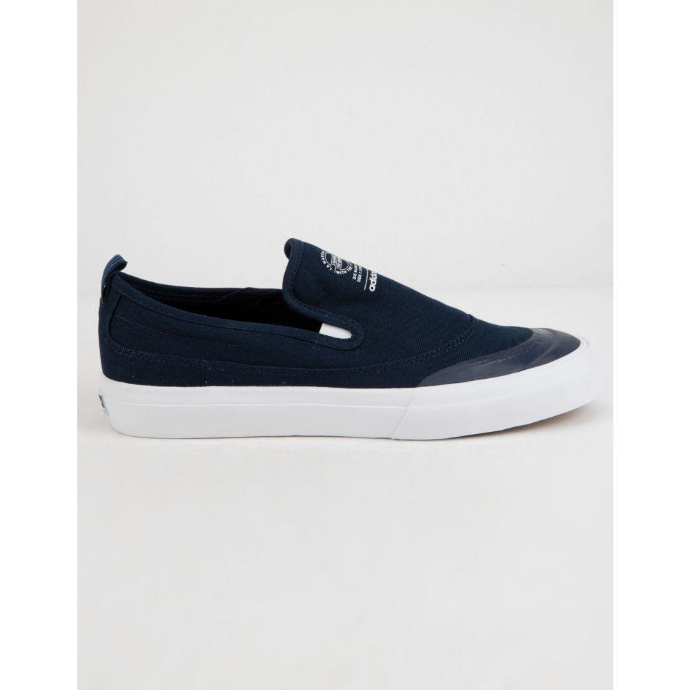アディダス ADIDAS メンズ シューズ・靴 スリッポン・フラット【Matchcourt ADV s Slip-On Shoes】Navy