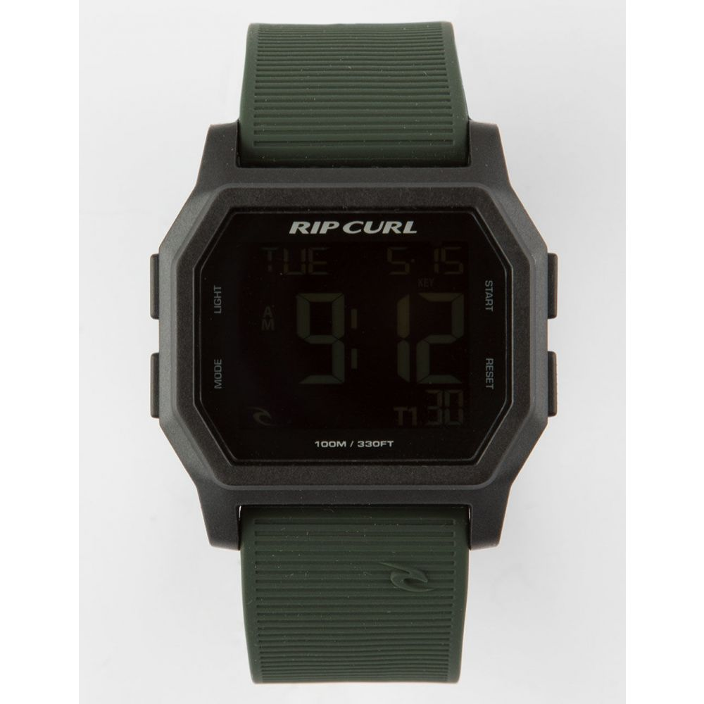 リップカール RIP CURL メンズ 腕時計【Atom Black & Green Digital Watch】Black Combo