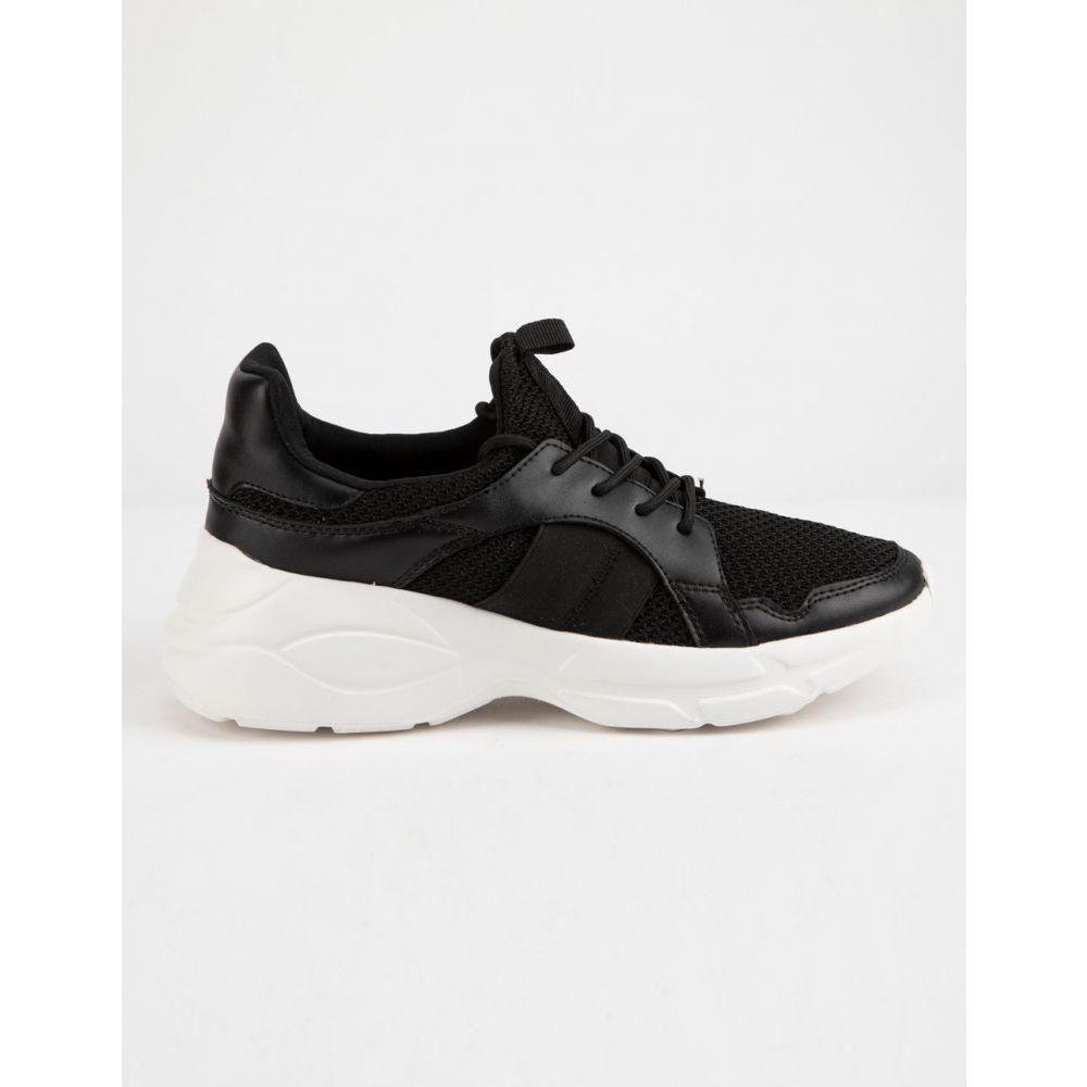 キューピッド QUPID レディース シューズ・靴 スニーカー【Piers Black & White s Shoes】Black/White