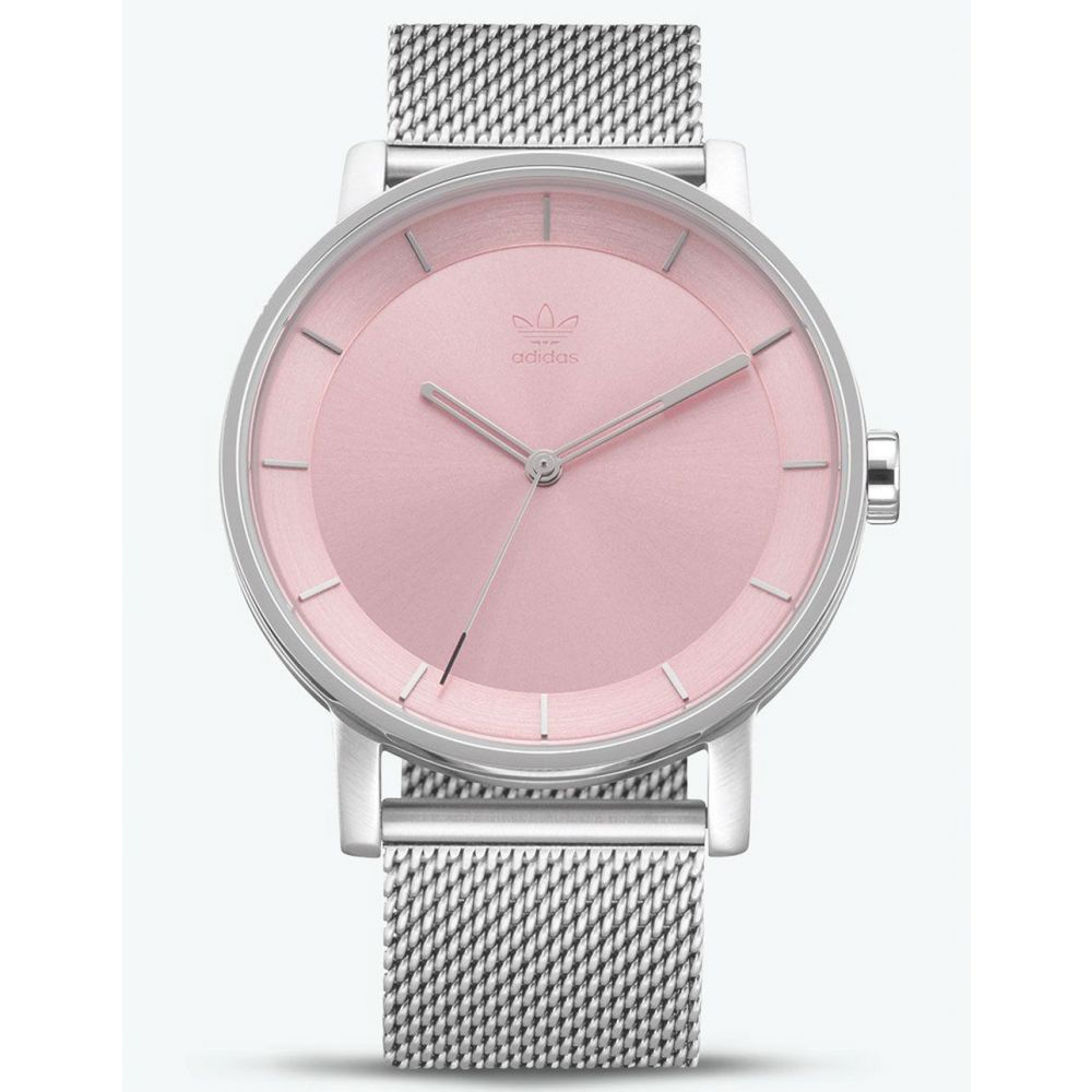 アディダス ADIDAS レディース 腕時計【DISTRICT_M1 Silver & Pink Watch】Silver/Pink