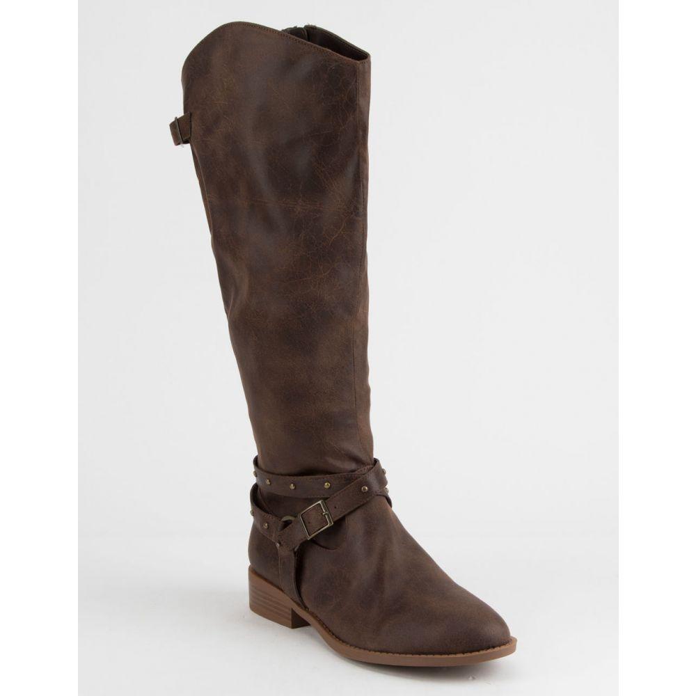 ブーツ【Zion シューズ・靴 QUPID Boots】Brown キューピッド レディース s