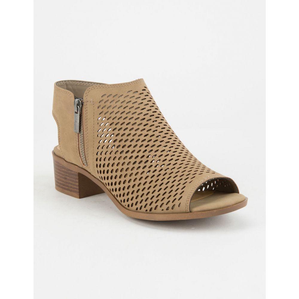 ソーダ SODA レディース シューズ・靴 ブーツ【Perforated Block Heel Taupe s Booties】Taupe
