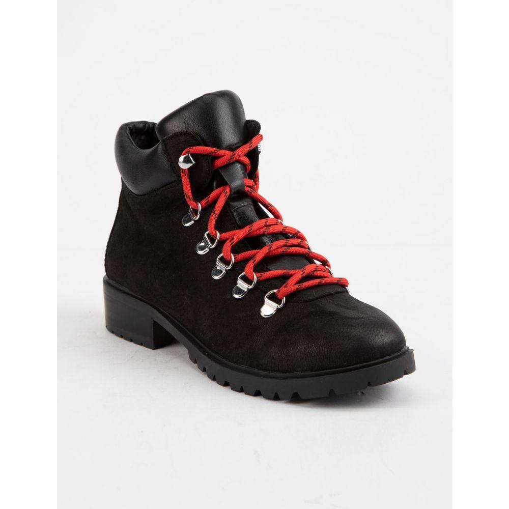 スティーブ マデン STEVE MADDEN レディース シューズ・靴 ブーツ【Lora Cognac Leather s Combat Boots】Patent Black