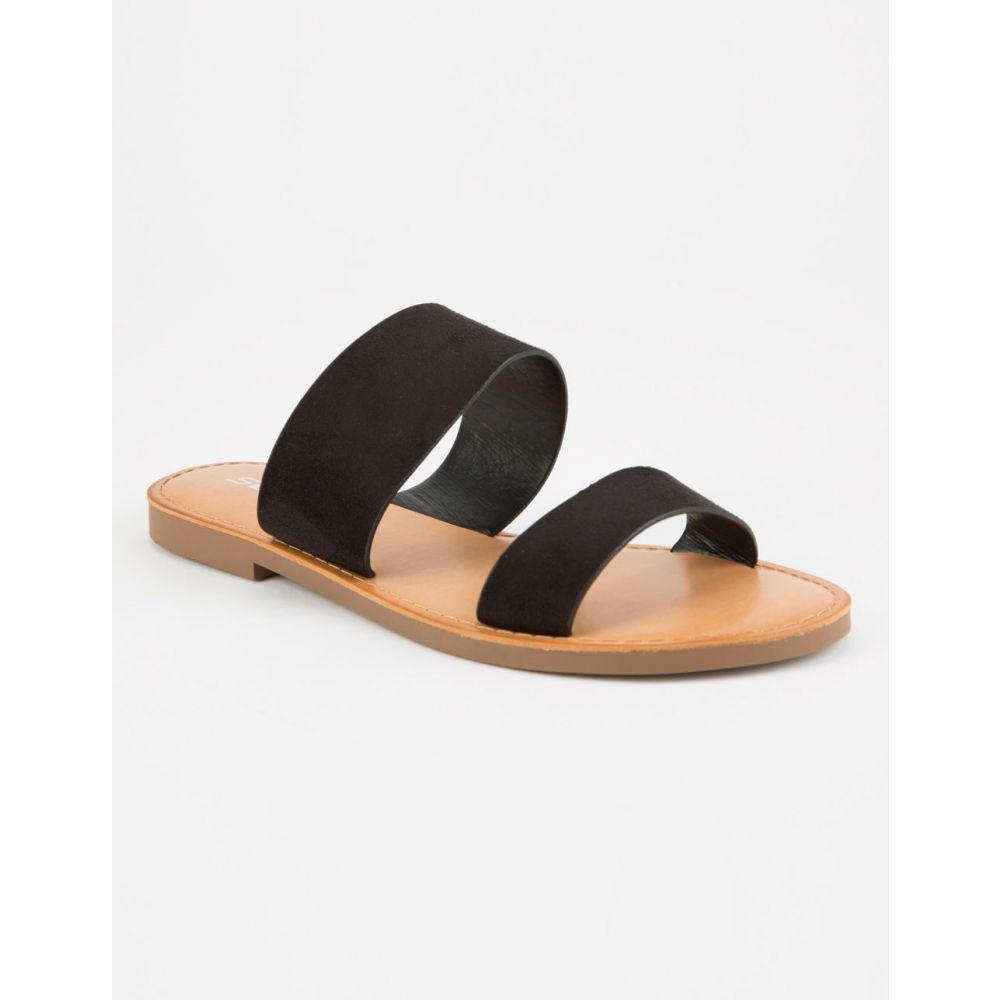 ソーダ SODA レディース シューズ・靴 サンダル・ミュール【Double Strap Black s Sandals】Black