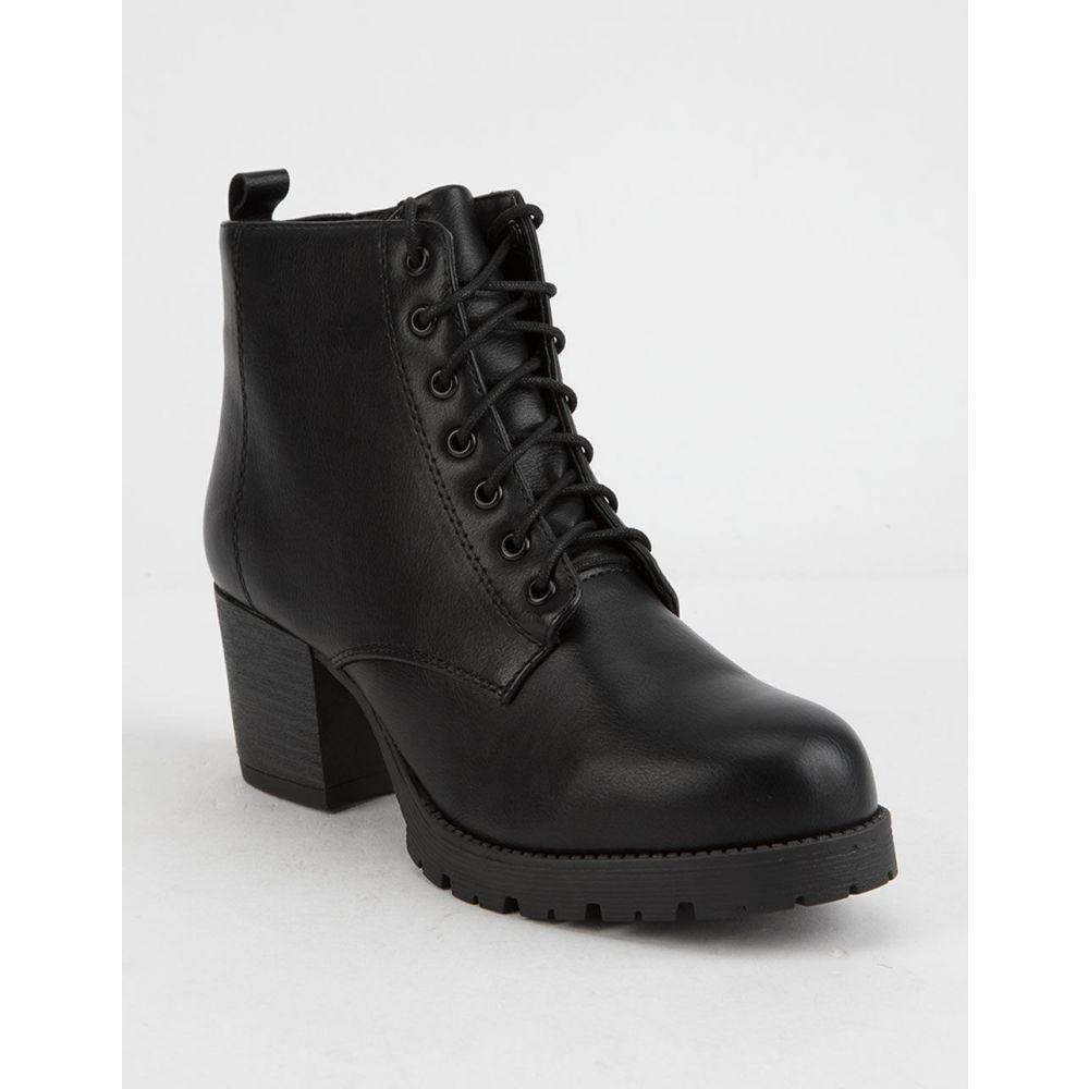 ソーダ SODA レディース シューズ・靴 ブーツ【Nevitt s Heeled Combat Boots】Black