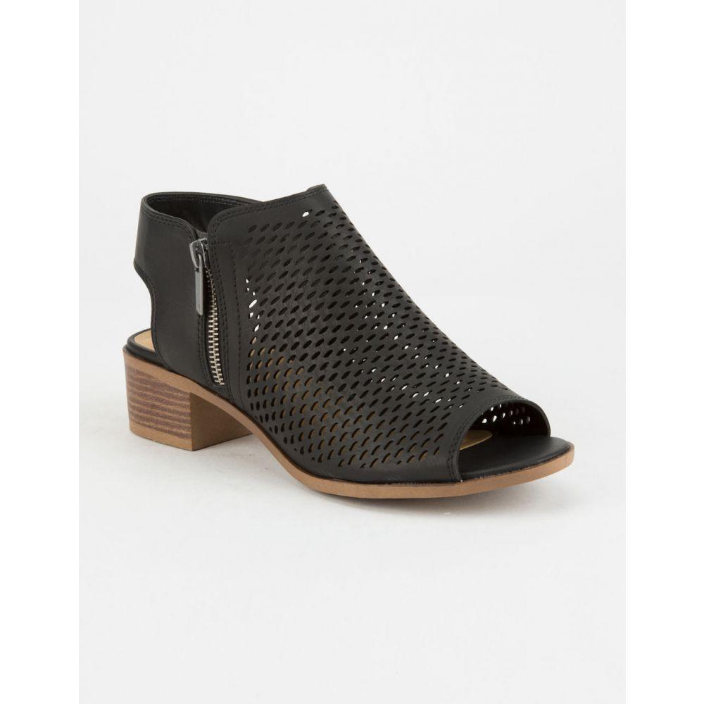 ソーダ SODA レディース シューズ・靴 ブーツ【Perforated Block Heel Taupe s Booties】Black