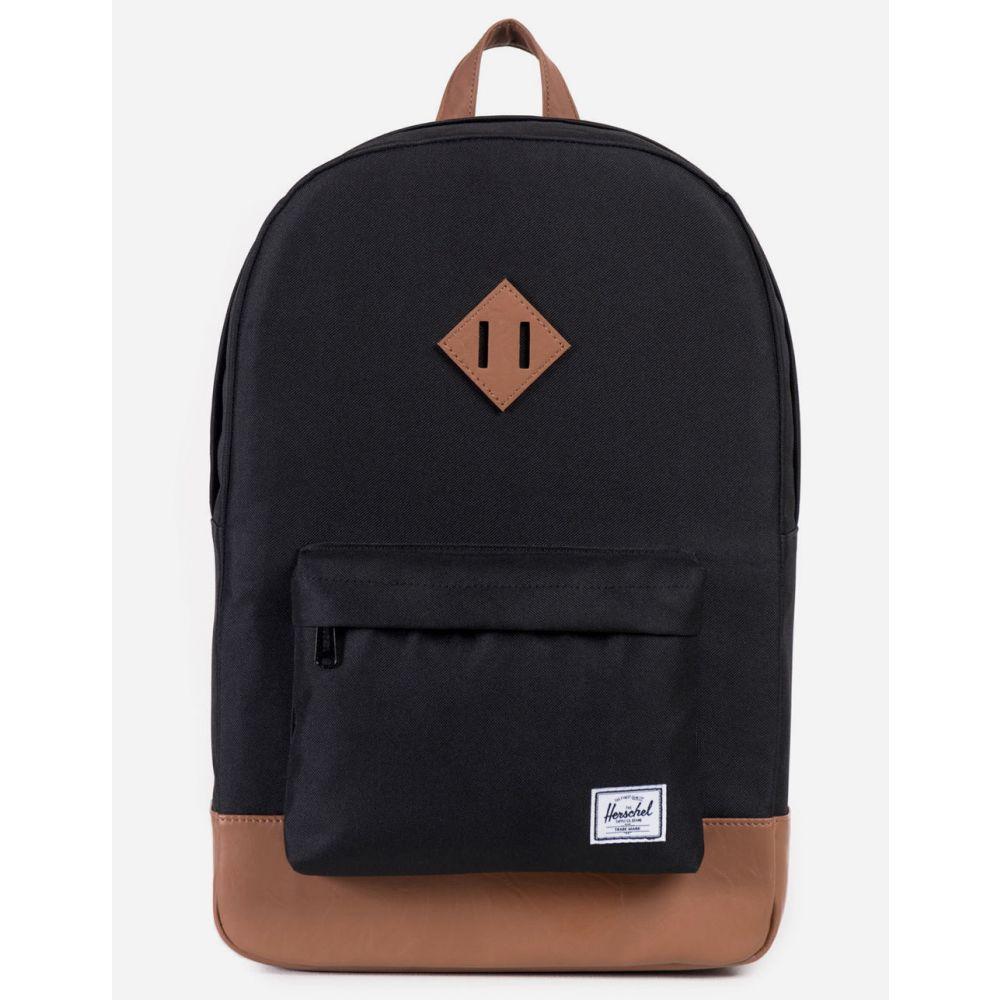 ハーシェル サプライ HERSCHEL SUPPLY CO. レディース バッグ バックパック・リュック【Heritage Black & Tan Backpack】Black/Tan