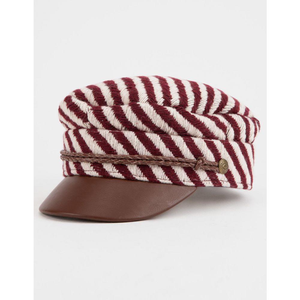 ブリクストン BRIXTON レディース 帽子【Albany Burgundy & Cream s Fiddler Cap】Burgundy/Cream