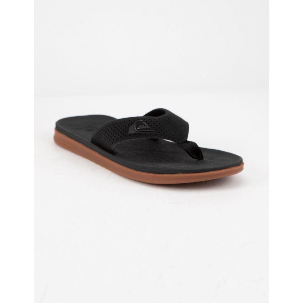 クイックシルバー QUIKSILVER メンズ シューズ・靴 サンダル【Haleiwa Plus Black Sandals】BLACK