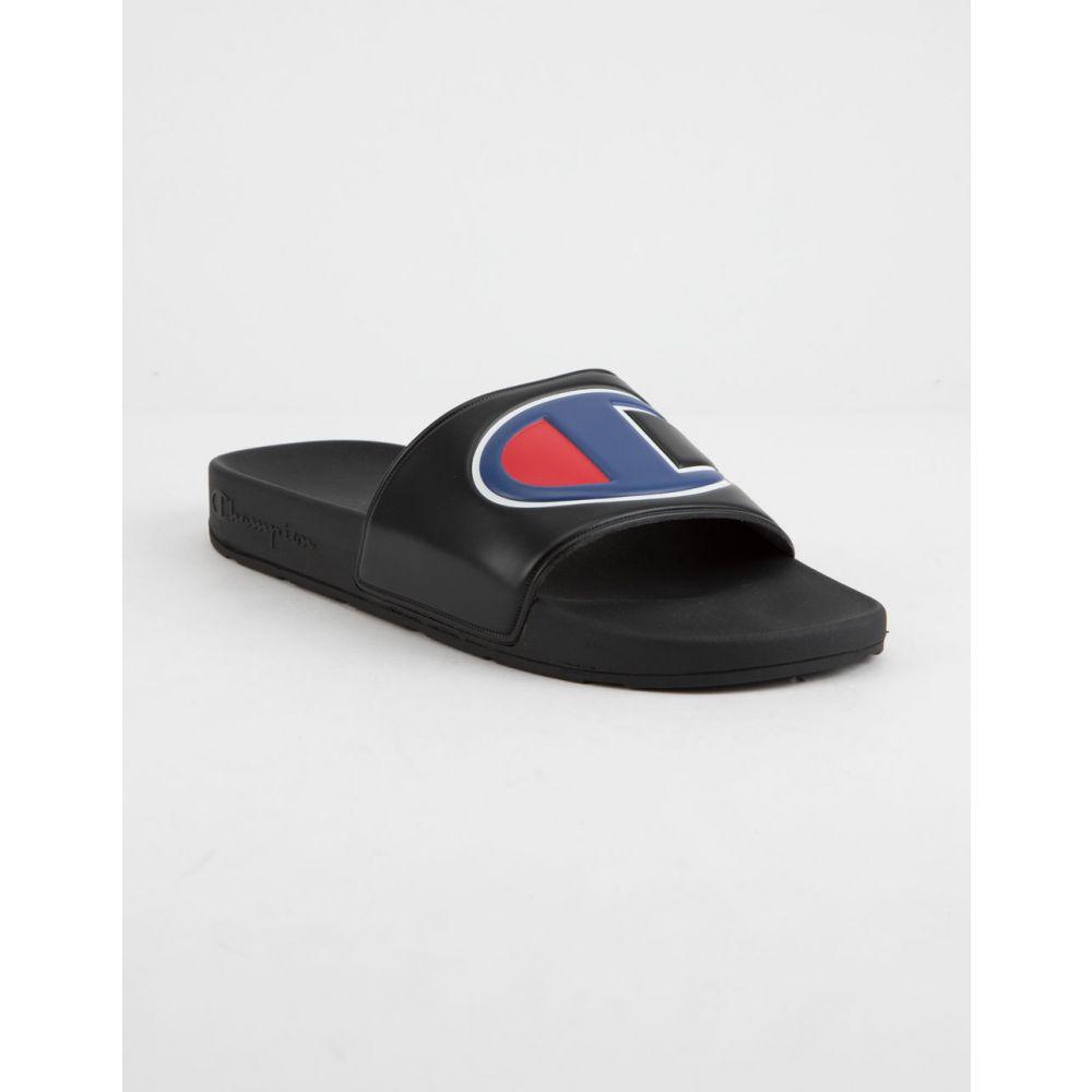 チャンピオン CHAMPION Black チャンピオン メンズ シューズ・靴 メンズ サンダル【IPO Black Sandals】BLACK/BLUE, こだわりのアメカジ通販ラグタイム:1e9c80f7 --- sunward.msk.ru