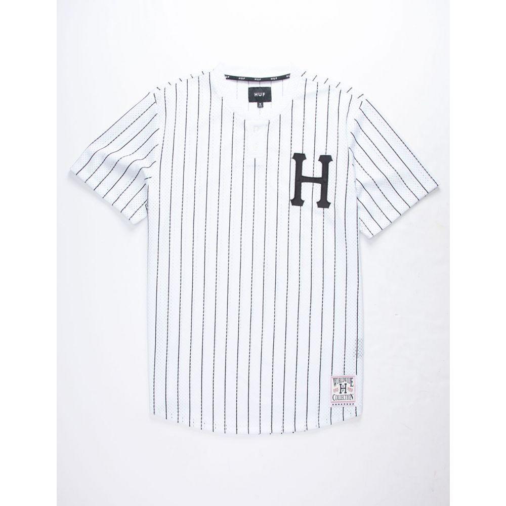 ハフ HUF メンズ トップス【Bronx Henley Jersey】WHITE
