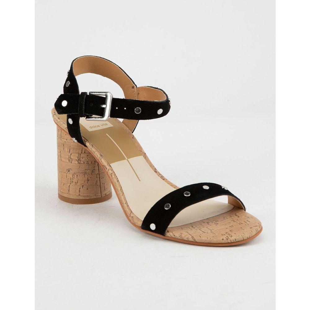 ドルチェヴィータ DOLCE VITA レディース シューズ・靴 サンダル・ミュール【DOLCE Vita Jadyn Black Studded Suede Heeled Sandals】BLACK