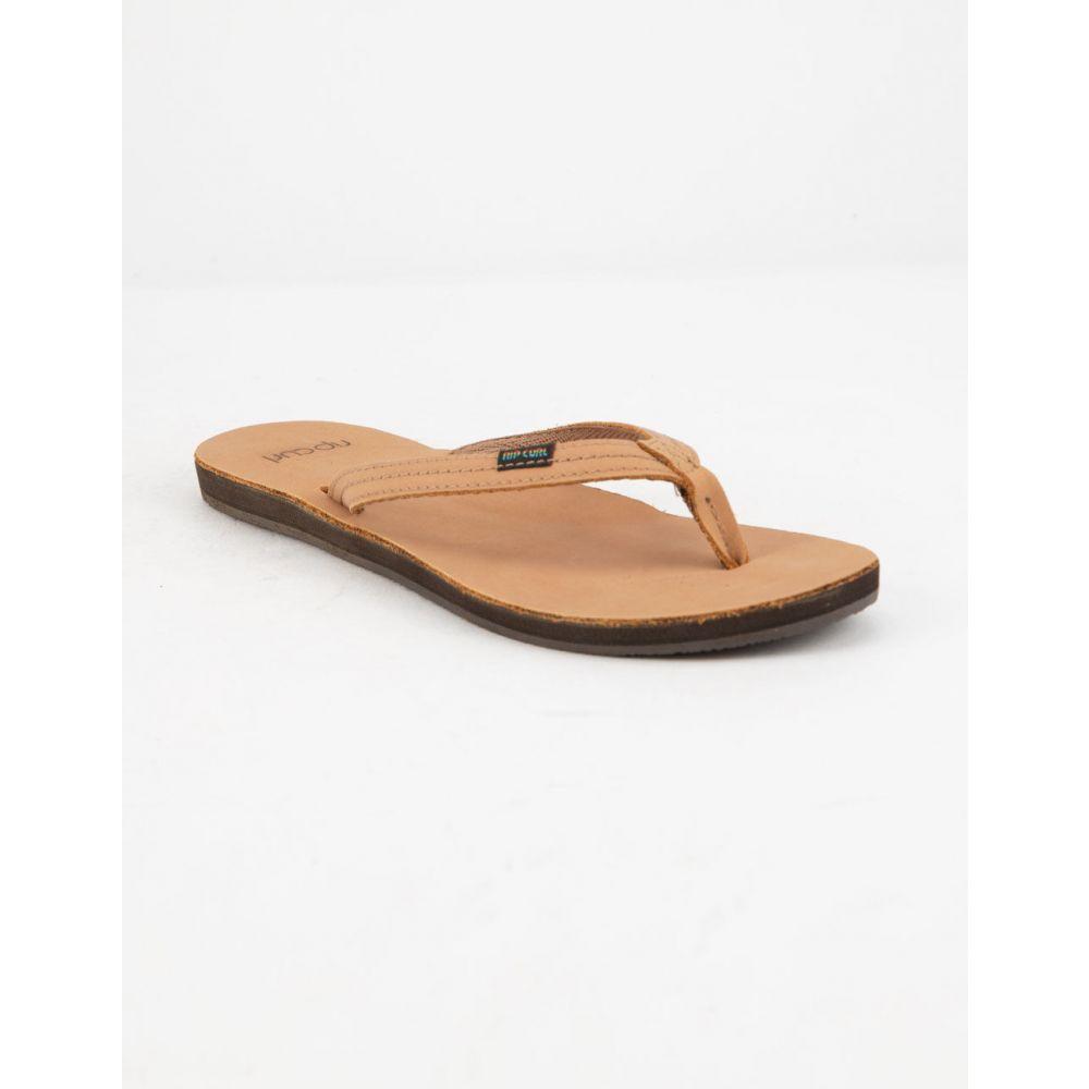 リップカール RIP CURL レディース シューズ・靴 ビーチサンダル【Riviera Tan Sandals】TAN