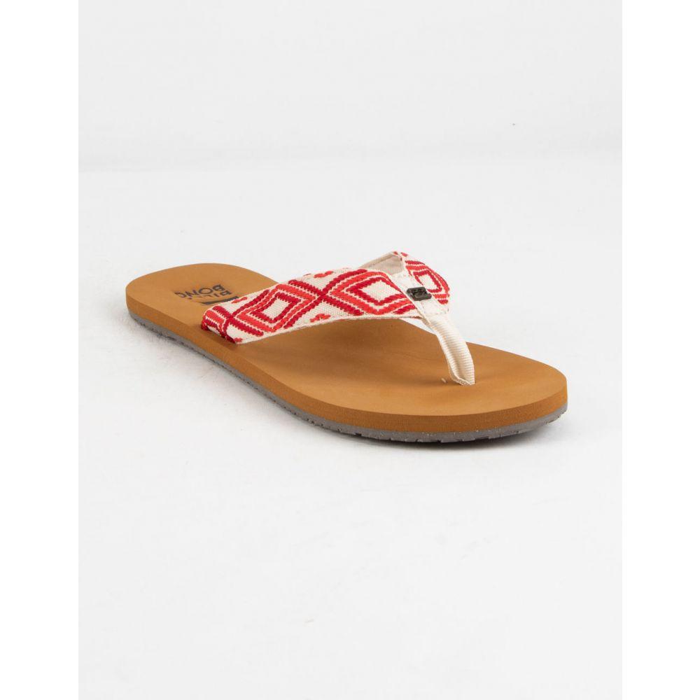 ビラボン BILLABONG レディース シューズ・靴 ビーチサンダル【Baja Sunset Red Sandals】RED