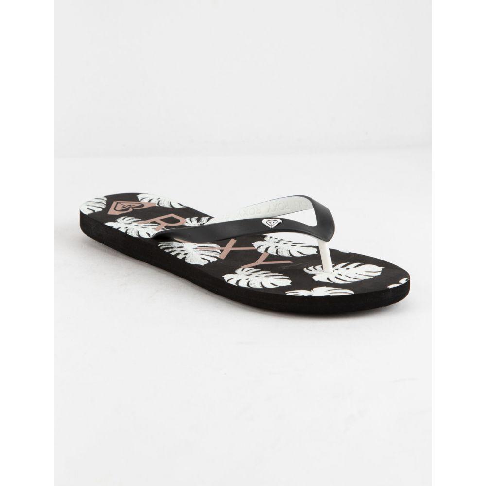 ロキシー ROXY レディース シューズ・靴 ビーチサンダル【Tahiti VI White Sandals】BLACK COMBO