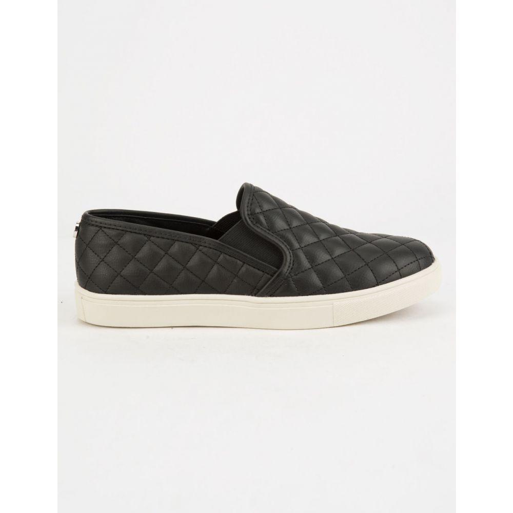 スティーブ マデン STEVE MADDEN レディース シューズ・靴 スリッポン・フラット【ECENTRCQ Grey Slip-on Shoes】BLACK