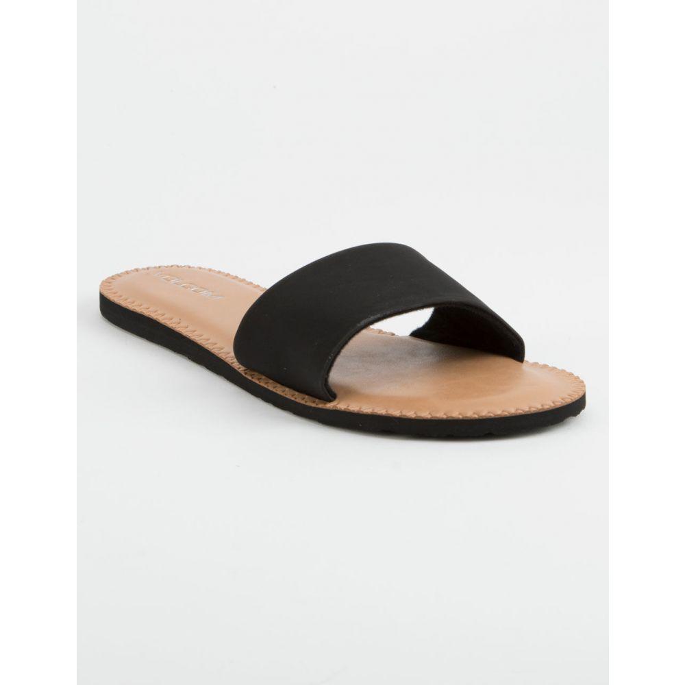ボルコム VOLCOM レディース シューズ・靴 サンダル・ミュール【Simple Slide Black Sandals】BLACK
