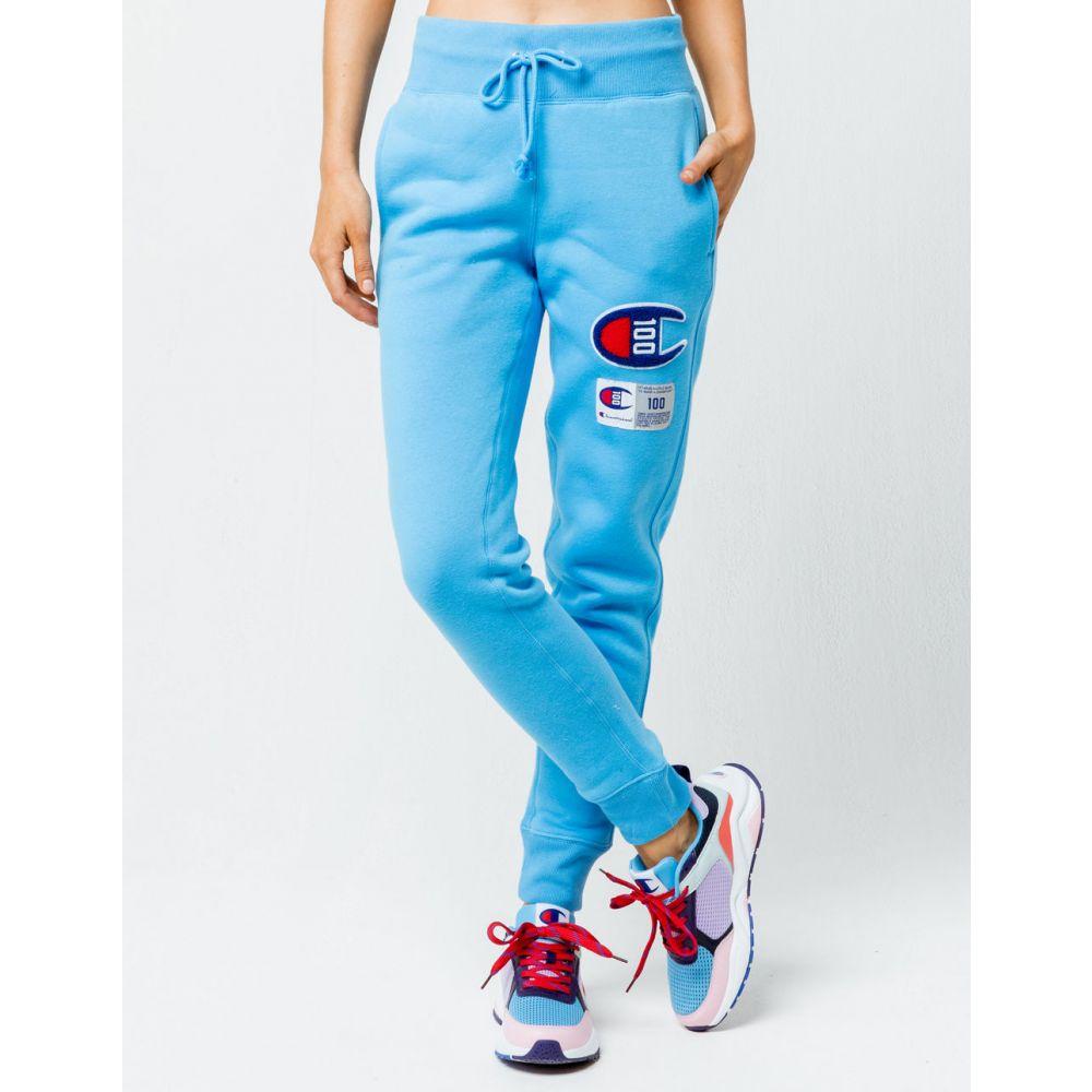 チャンピオン CHAMPION レディース ボトムス・パンツ ジョガーパンツ【Century Collection C100 Chenille Logo Active Blue Jogger Pants】ACTIVE BLUE