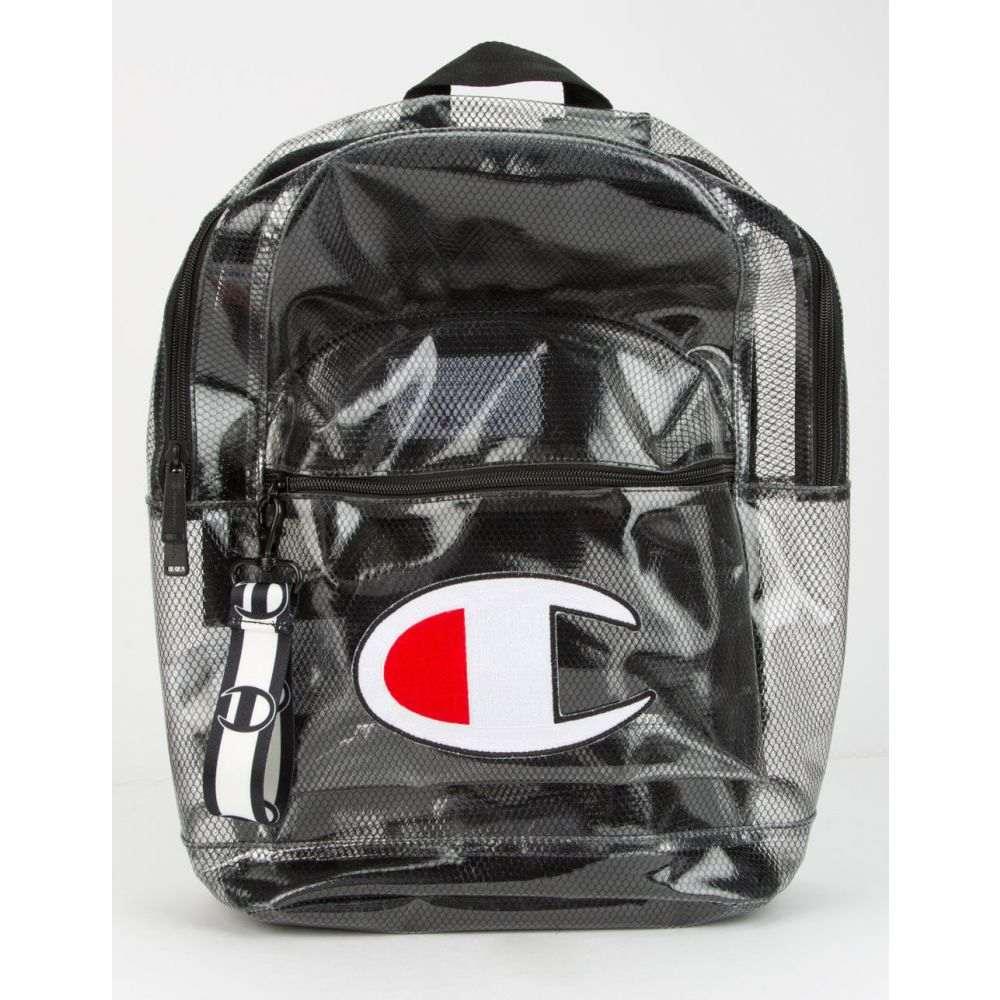 チャンピオン CHAMPION メンズ バックパック・リュック バッグ【Supercize Clear Black Backpack】BLACK