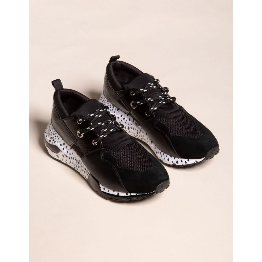 スティーブ マデン STEVE MADDEN レディース スニーカー シューズ・靴【Cliff Black Shoes】BLACK