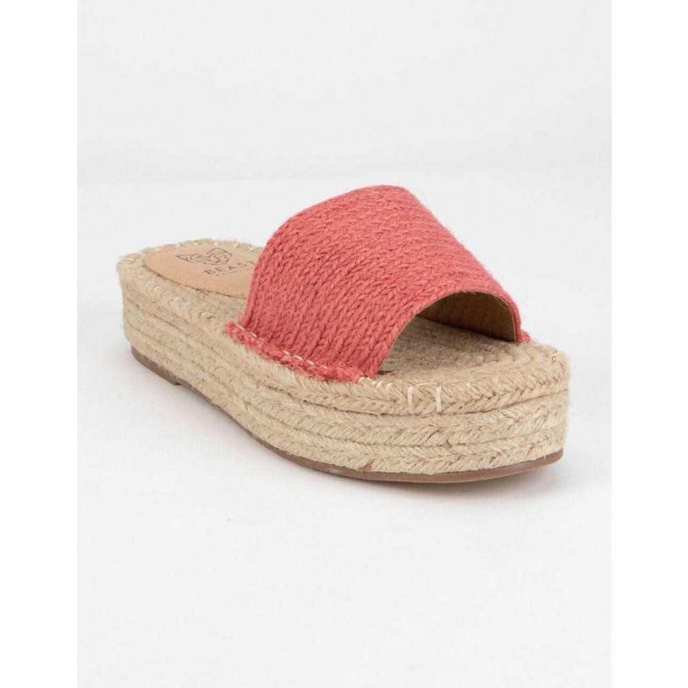 ビーストファッション BEAST FASHION レディース エスパドリーユ シューズ・靴【Tia Pink Espadrille Flatform Sandals】PINK