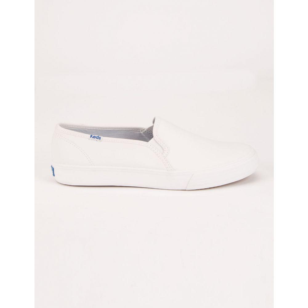 ケッズ KEDS レディース スニーカー シューズ・靴【Double Decker White Leather Shoes】WHITE